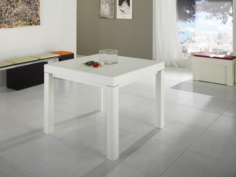 Artigianmobili tavoli consolle sedute for Tavolo quadrato allungabile design